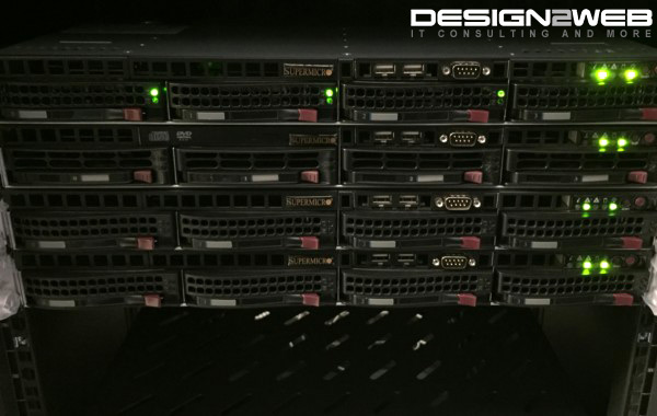 Design2Web 1U Supermicro Web, Email and DNS Servers