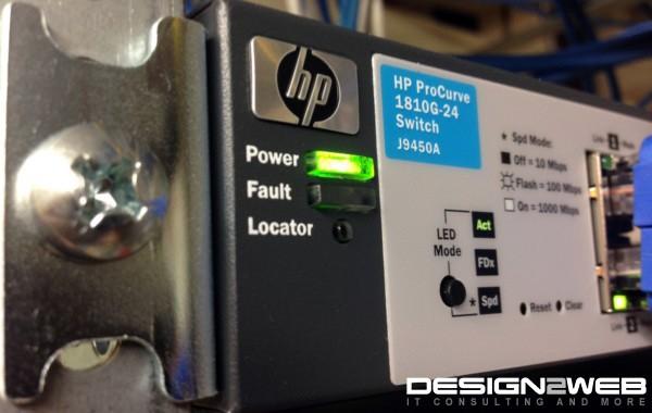 Client HP ProCurve 1810G-24 Gigabit Switch
