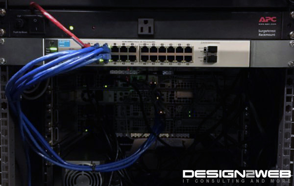 Design2Web Data Center HP ProCurve Switch APC SurgeArrest Rackmount