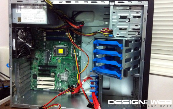 Supermicro Tower Windows File Server Build Intel Xeon WD RE4