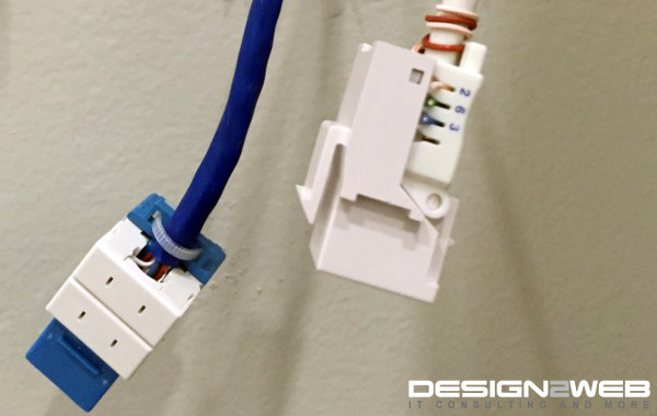 Client CAT5e and CAT6 Jack Termination