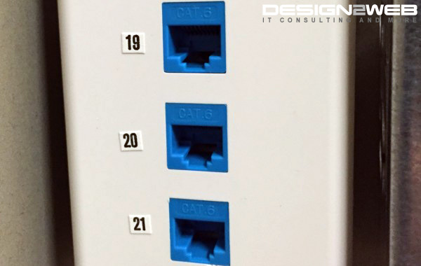 Medical Clinic Triple CAT6 RJ45 Ethernet Jacks