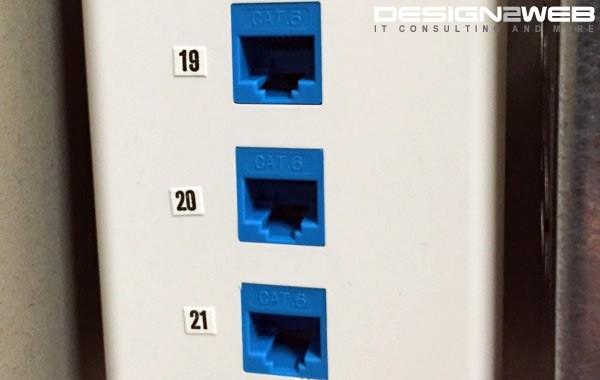 Medical Clinic Triple CAT6 RJ45 Ethernet Jacks